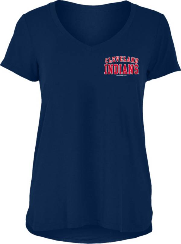 New Era Women's Cleveland Indians Tri-Blend V-Neck T-Shirt product image
