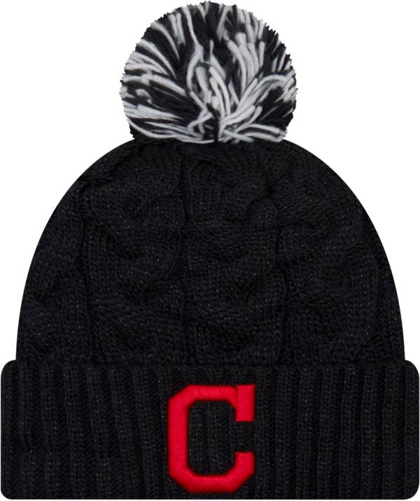 New Era Women's Cleveland Indians Cozy Cable Knit Hat product image
