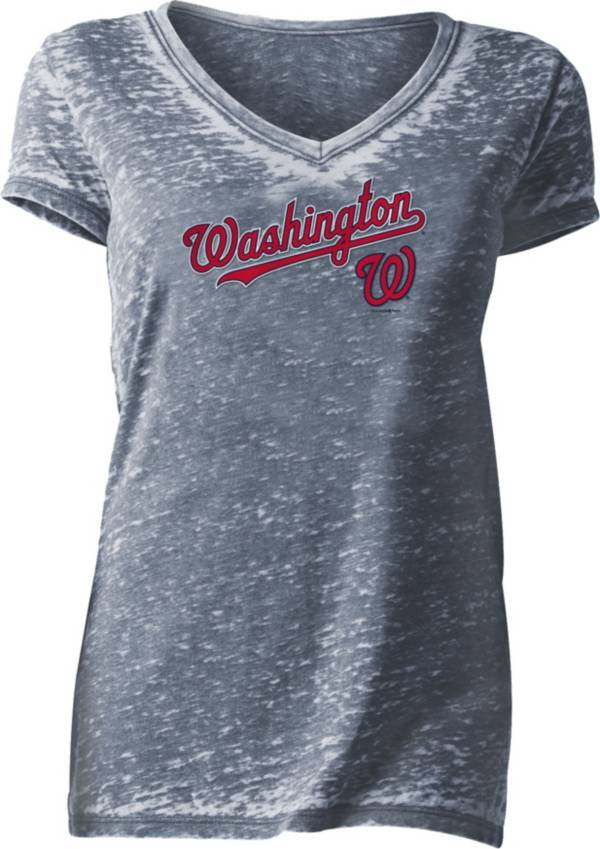 New Era Women's Washington Nationals Tri-Blend V-Neck T-Shirt product image