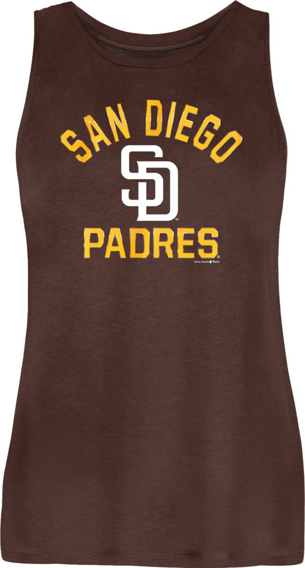 New Era Women's San Diego Padres Brown Poly Rayon Tank Top product image