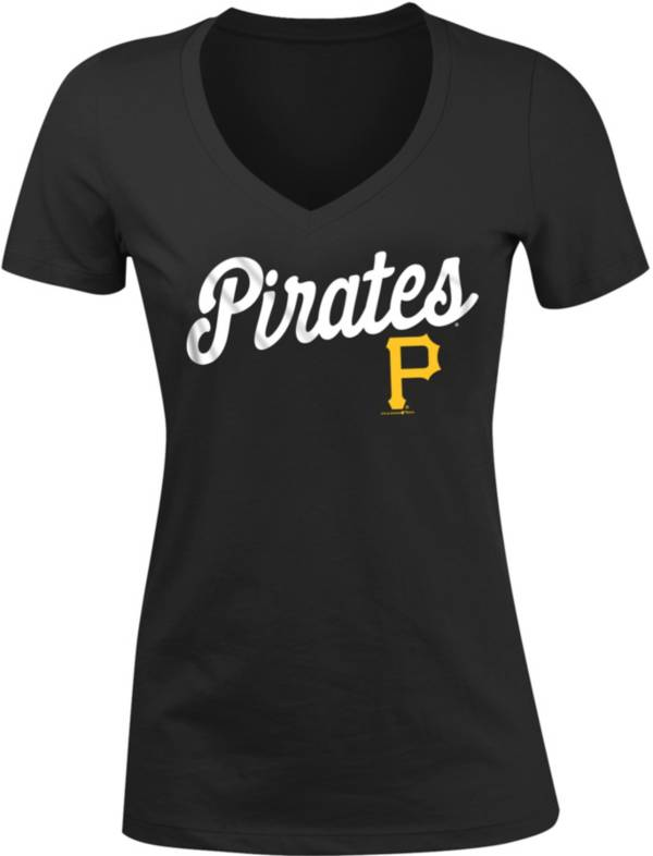 New Era Women's Pittsburgh Pirates Tri-Blend V-Neck T-Shirt product image