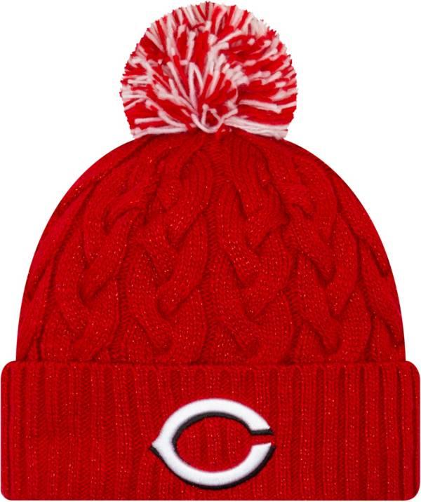 New Era Women's Cincinnati Reds Cozy Cable Knit Hat product image