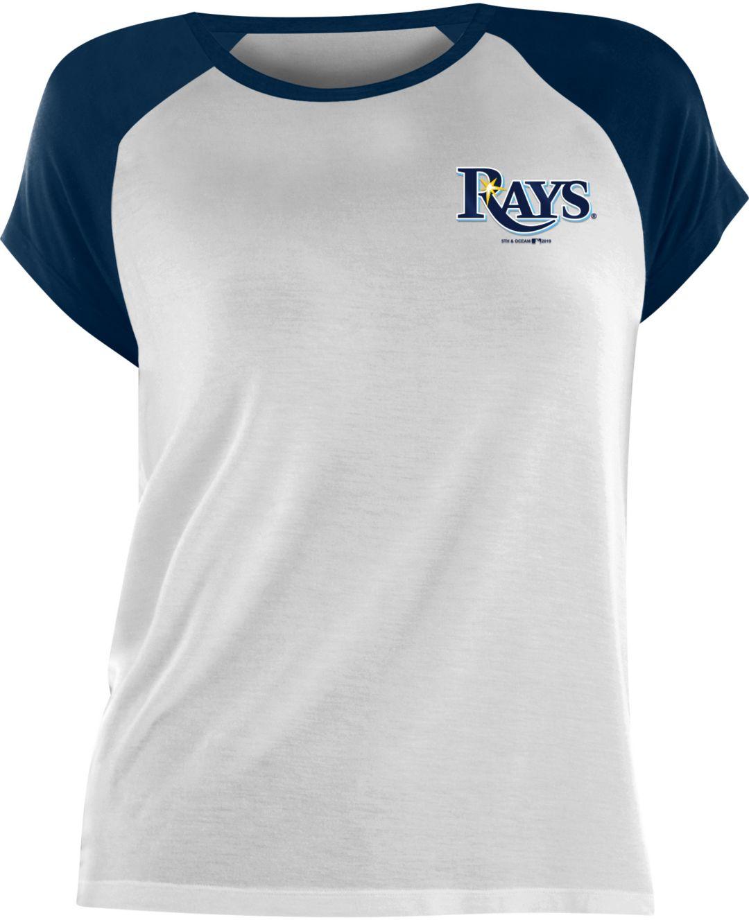 823a522e New Era Women's Tampa Bay Rays Tri-Blend T-Shirt