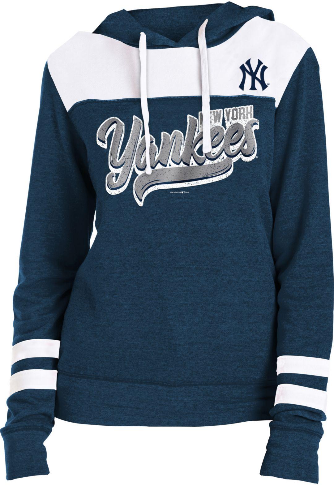 best service 391d8 e32d1 New Era Women's New York Yankees Tri-Blend Pullover Hoodie