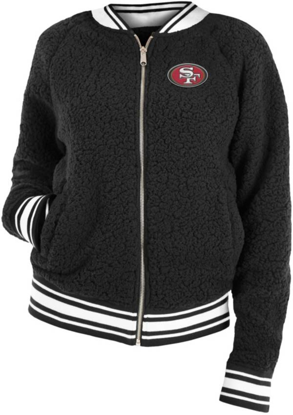 New Era Women's San Francisco 49ers Sherpa Black Full-Zip Jacket product image