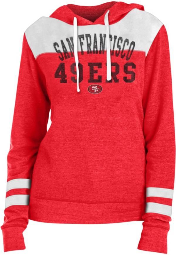 New Era Women's San Francisco 49ers Tri-Blend Fleece Red Hoodie product image