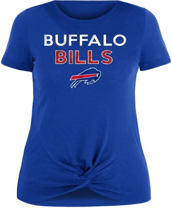 NFL Team Apparel Women's Buffalo Bills Glitter Knot Royal Plus Size T-Shirt product image