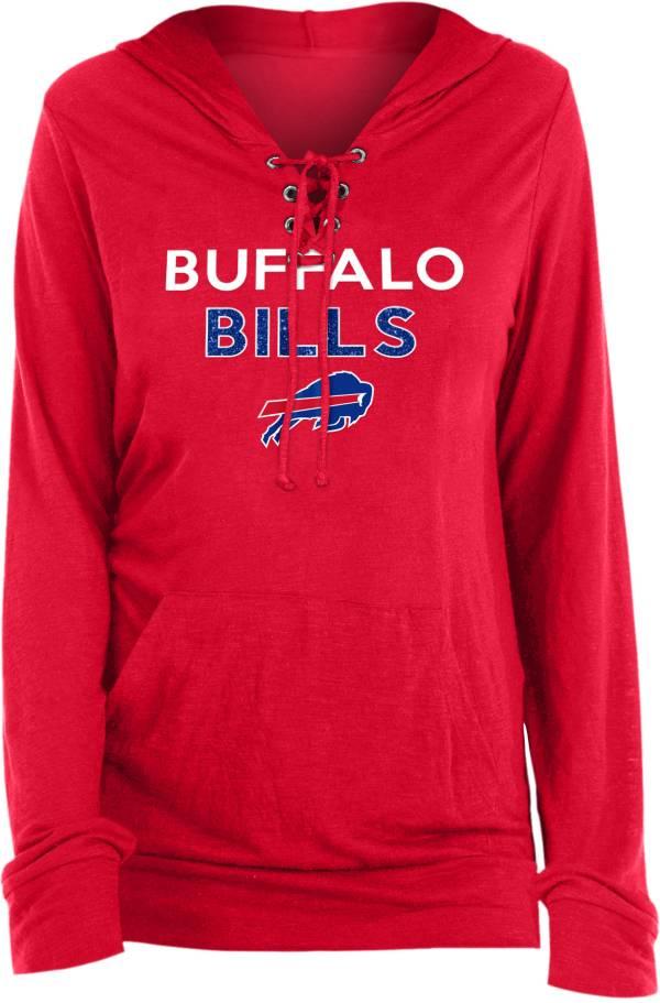 New Era Women's Buffalo Bills Lace Hood Red Long Sleeve T-Shirt product image
