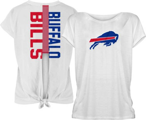 New Era Women's Buffalo Bills Split Back White T-Shirt product image