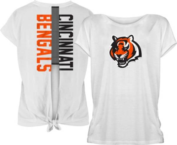 New Era Women's Cincinnati Bengals Split Back White T-Shirt product image