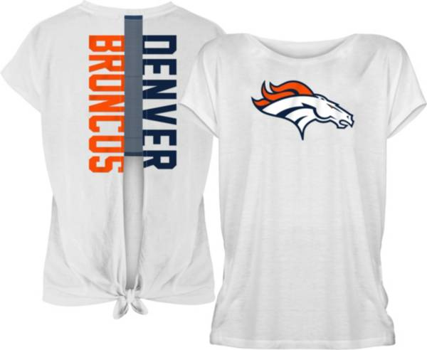 New Era Women's Denver Broncos Split Back White T-Shirt product image