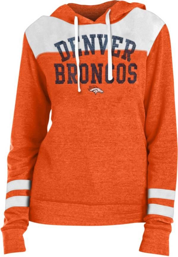 New Era Women's Denver Broncos Tri-Blend Fleece Orange Hoodie product image