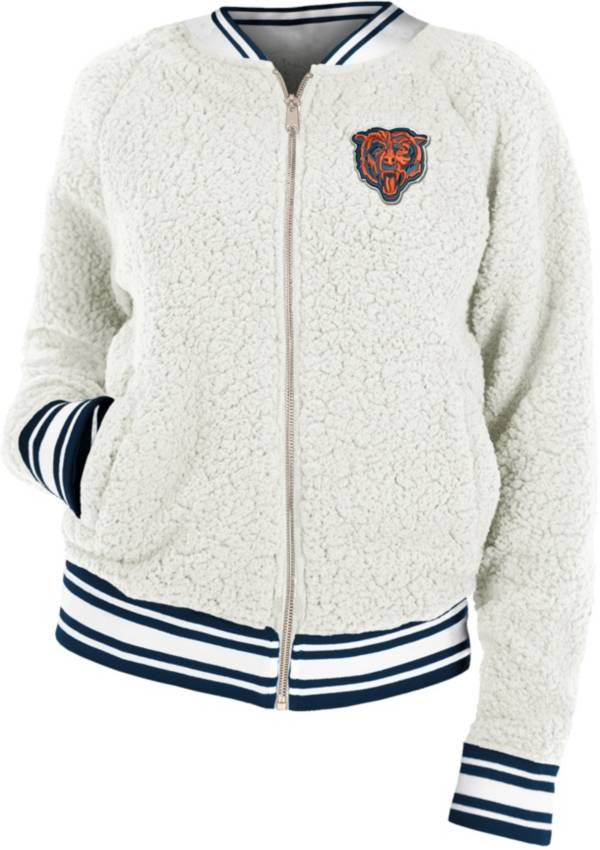 New Era Women's Chicago Bears Sherpa White Full-Zip Jacket product image