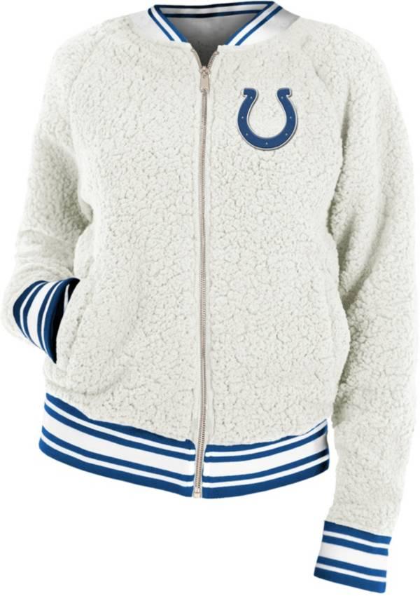 New Era Women's Indianapolis Colts Sherpa White Full-Zip Jacket product image