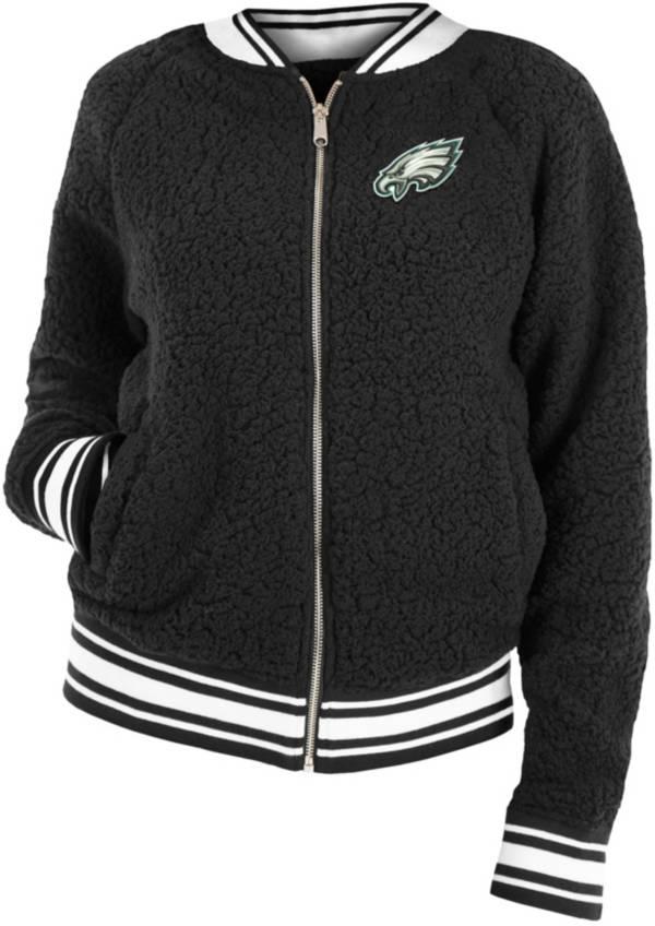 New Era Women's Philadelphia Eagles Sherpa Black Full-Zip Jacket product image