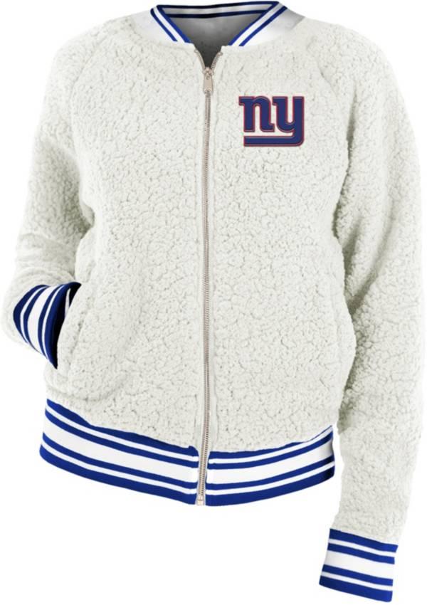 New Era Women's New York Giants Sherpa White Full-Zip Jacket product image