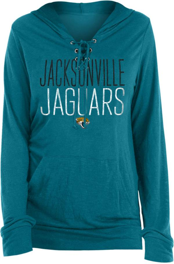 New Era Women's Jacksonville Jaguars Lace Hood Teal Long Sleeve T-Shirt product image