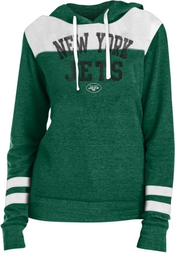 New Era Women's New York Jets Tri-Blend Fleece Green Hoodie product image