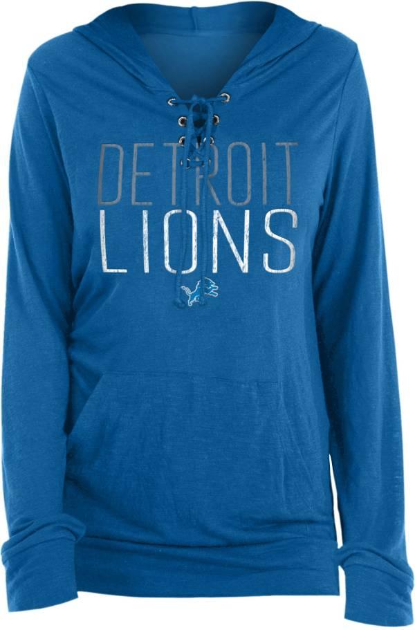New Era Women's Detroit Lions Lace Hood Blue Long Sleeve T-Shirt product image