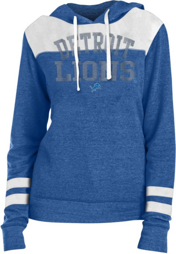 New Era Women's Detroit Lions Tri-Blend Fleece Royal Hoodie product image