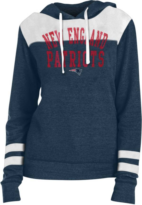 New Era Women's New England Patriots Tri-Blend Fleece Navy Hoodie product image
