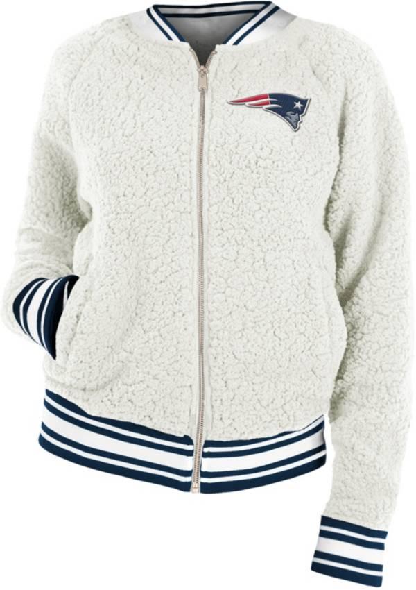 New Era Women's New England Patriots Sherpa White Full-Zip Jacket product image