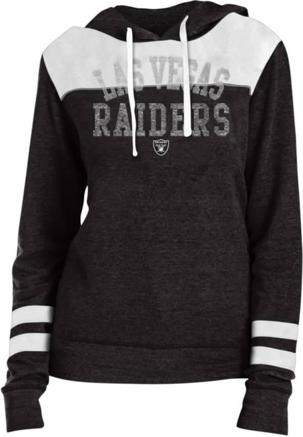 New Era Women's Las Vegas Raiders Tri-Blend Fleece Black Hoodie product image