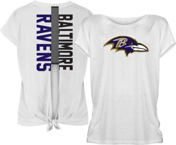 New Era Women's Baltimore Ravens Split Back White T-Shirt product image