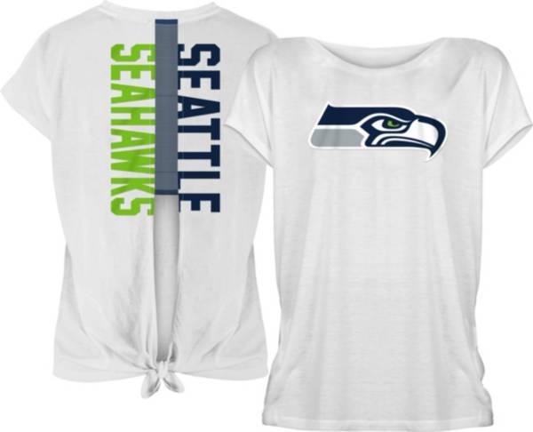 New Era Women's Seattle Seahawks Split Back White T-Shirt product image