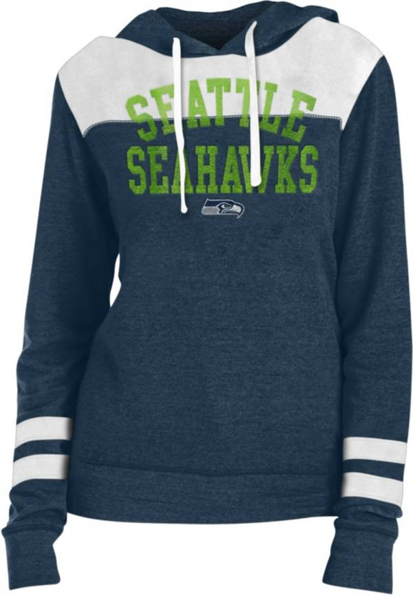 New Era Women's Seattle Seahawks Tri-Blend Fleece Navy Hoodie product image