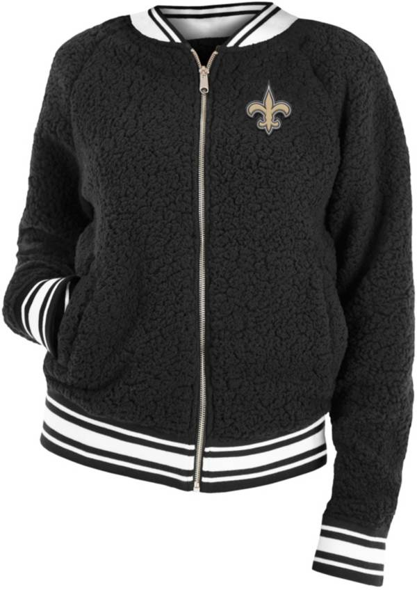 New Era Women's New Orleans Saints Sherpa Black Full-Zip Jacket product image