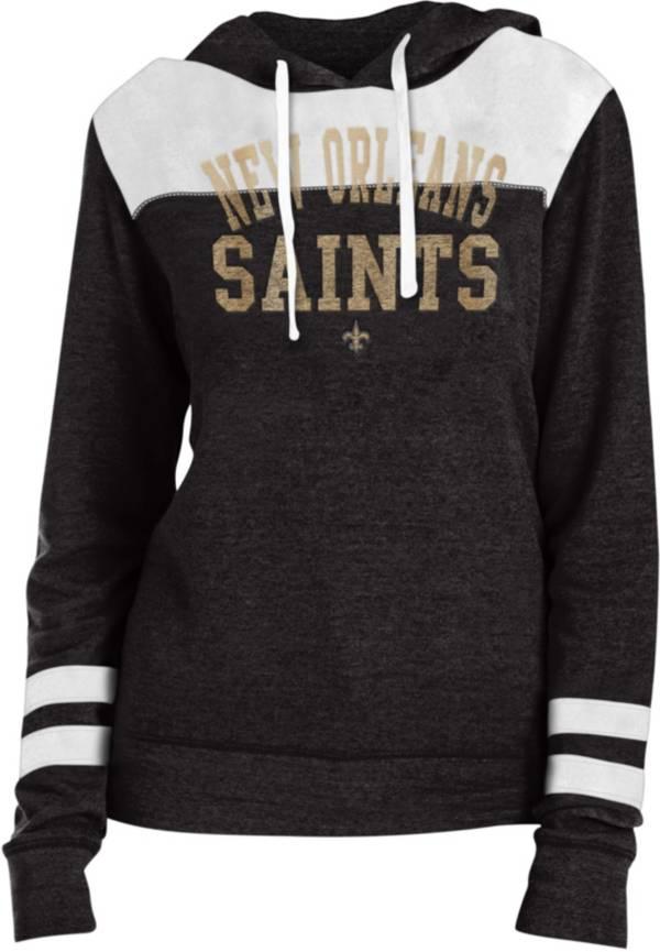 New Era Women's New Orleans Saints Tri-Blend Fleece Black Hoodie product image