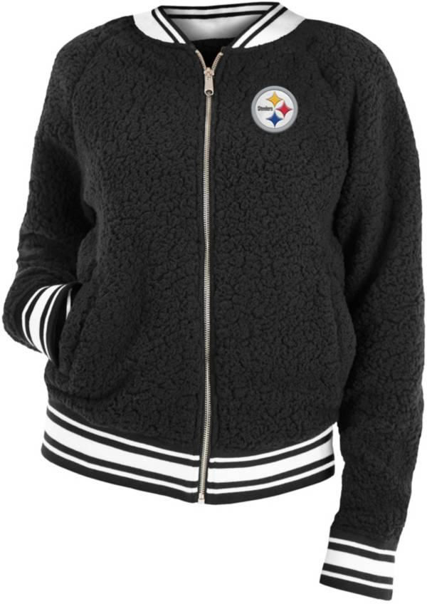 New Era Women's Pittsburgh Steelers Sherpa Black Full-Zip Jacket product image