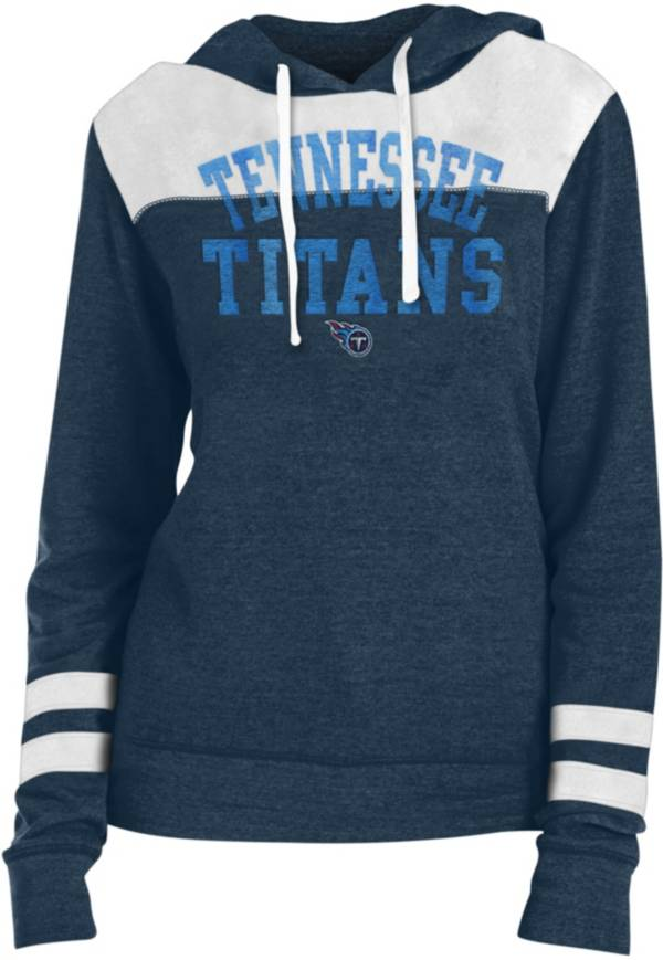 New Era Women's Tennessee Titans Tri-Blend Fleece Navy Hoodie product image