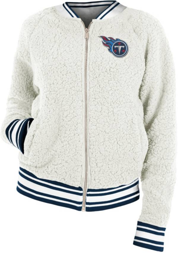 New Era Women's Tennessee Titans Sherpa White Full-Zip Jacket product image