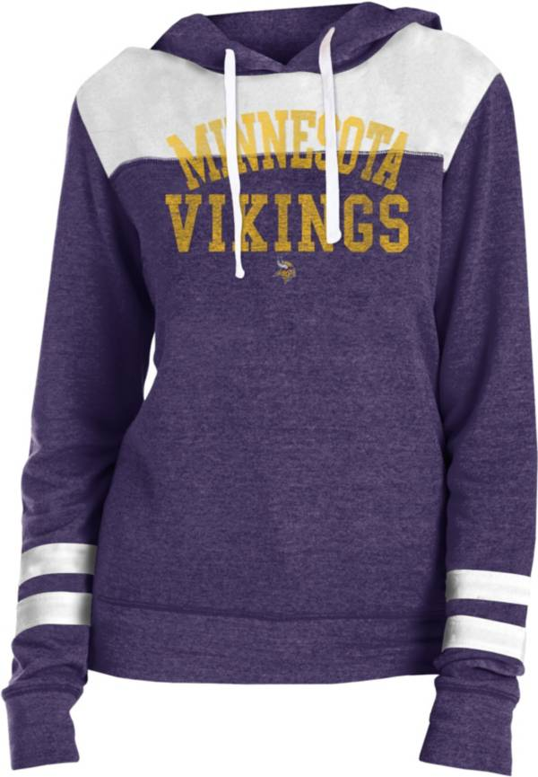 New Era Women's Minnesota Vikings Tri-Blend Fleece Purple Hoodie product image