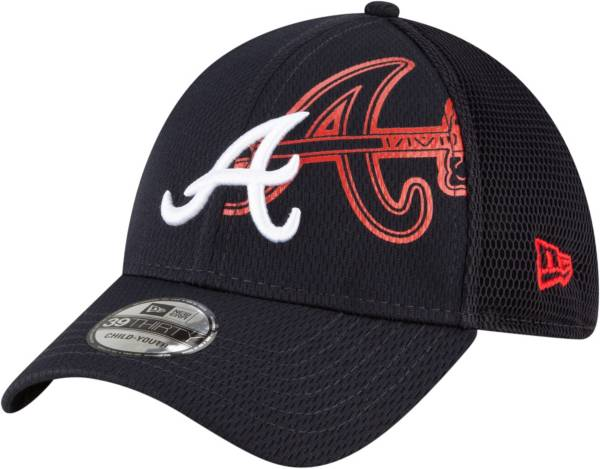 New Era Youth Atlanta Braves 39Thirty Tonel Neo Stretch Fit Hat product image