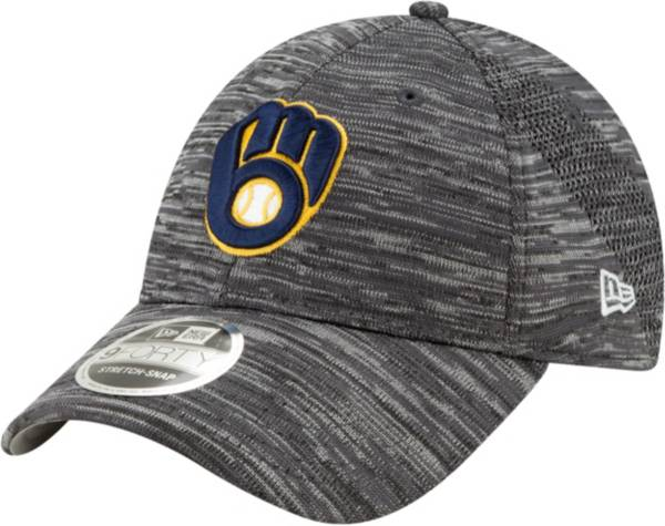 New Era Youth Milwaukee Brewers Gray 9Forty Shadow Neo Adjustable Hat product image