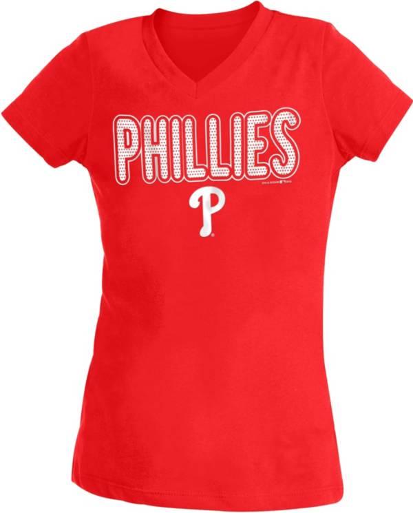 New Era Youth Girls' Philadelphia Phillies Red T-Shirt product image