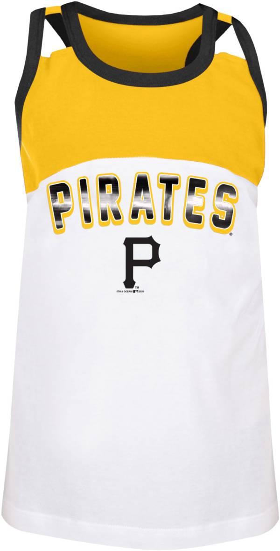 New Era Youth Pittsburgh Pirates Yellow Baseball Jersey Tank Top product image