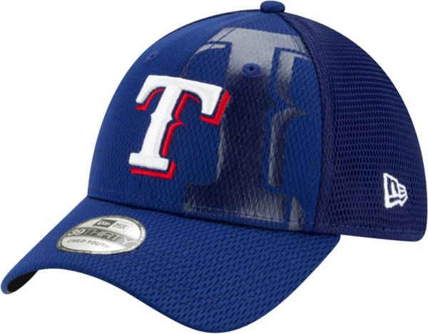 New Era Youth Texas Rangers Blue 39Thirty Tonel Neo Stretch Fit Hat product image