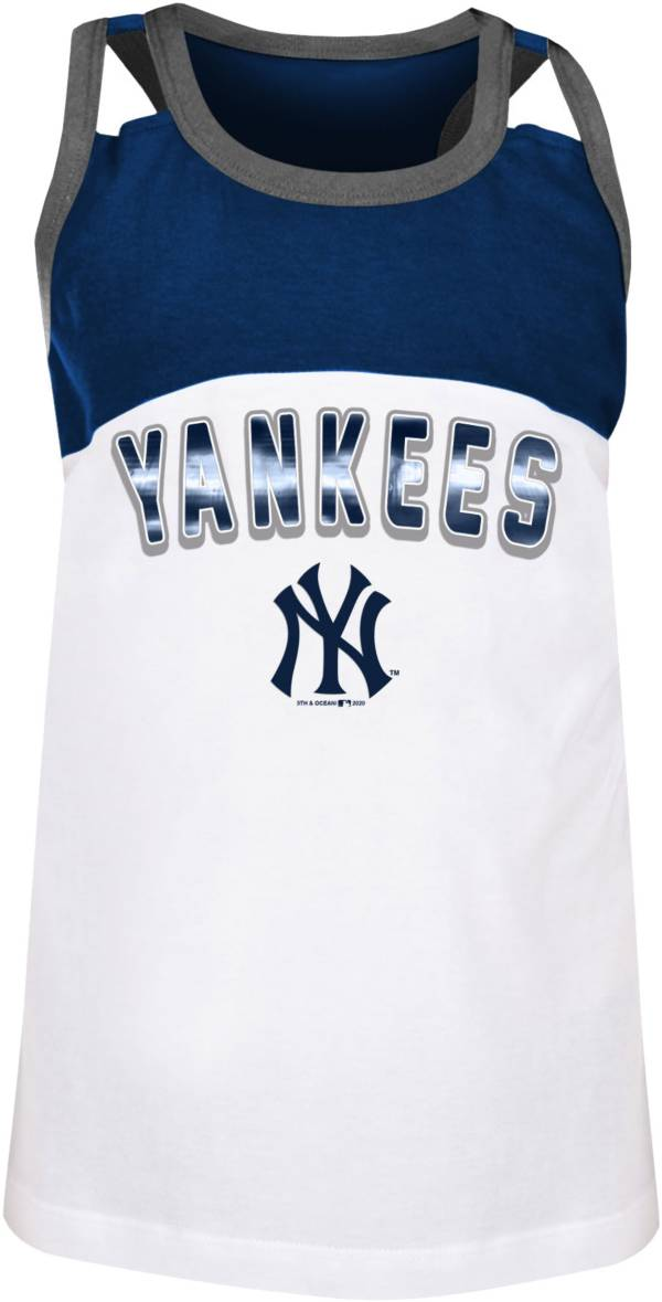 New Era Youth Girls' New York Yankees Navy Spandex Baby Jersey Tank Top product image