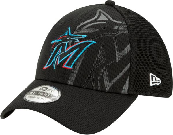 New Era Youth Miami Marlins Black 39Thirty Tonel Neo Stretch Fit Hat product image