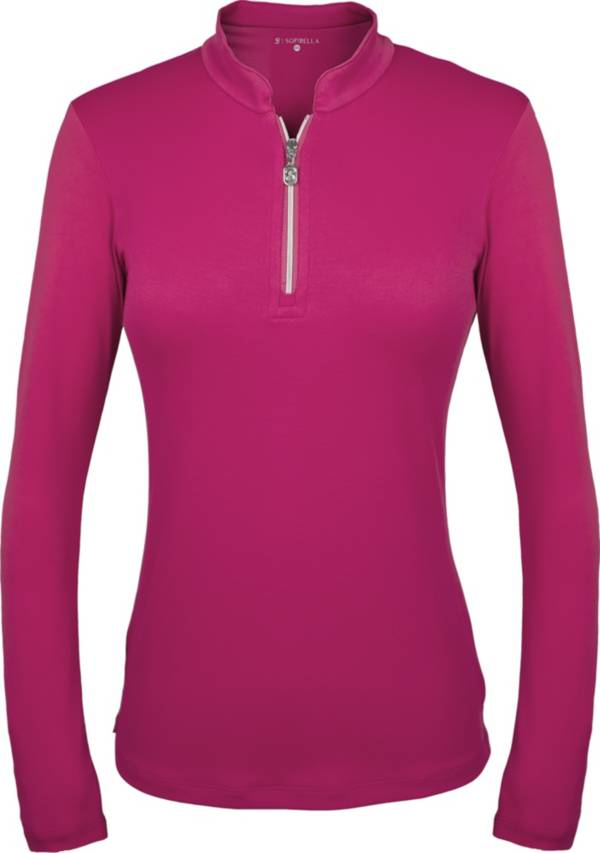 Sofibella Women's Mock Neck Long Sleeve Golf Polo product image