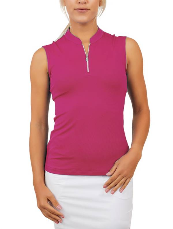 Sofibella Women's Mock Neck Sleeveless Golf Polo product image