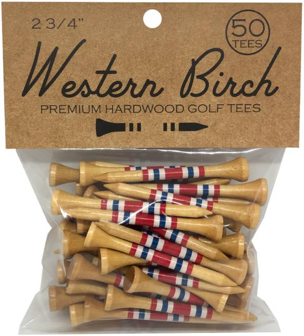 "Western Birch Brave and Free Wooden Painted 2.75"" Golf Tee – 50 Pack product image"