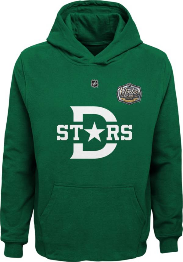 NHL Youth 2020 Winter Classic Dallas Stars Crest Green Pullover Hoodie product image