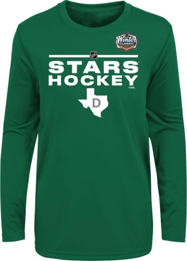 NHL Youth 2020 Winter Classic Dallas Stars Locker Room Green Long Sleeve Shirt product image