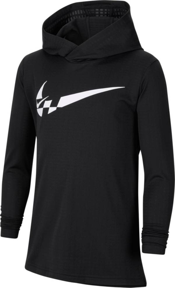 Nike Boys' Breathe Hooded Long Sleeve Shirt product image