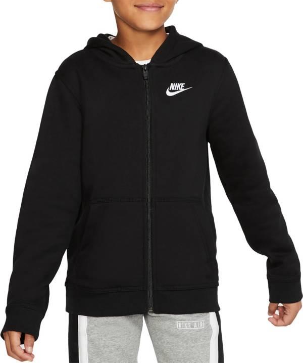 Nike Boys/' Sportswear Full-Zip Hoodie BLACK SIZE L MSRP:$35.00